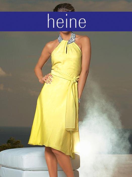 Heine Kleid M Strass Gelb Neu Ebay