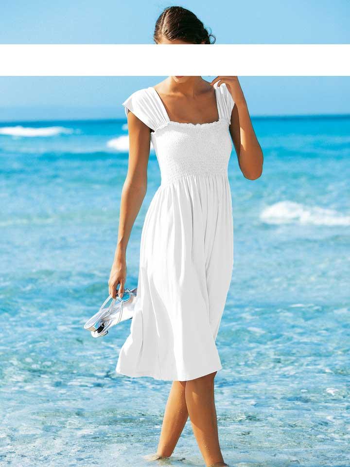 heine damenkleid sommerkleid strandkleid kleid trendsetter wei ebay. Black Bedroom Furniture Sets. Home Design Ideas