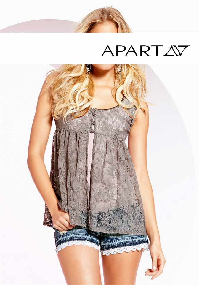 apart provokant sexy jersey top spitzentop tunika shirt 2 tlg mauve taupe ebay. Black Bedroom Furniture Sets. Home Design Ideas
