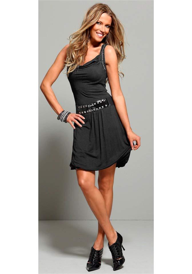 Lilakleid Kleid schickes kleid pailletten besatz Scott Laura mit kOnwP0