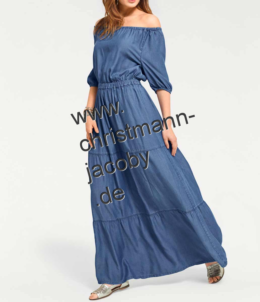 Maxikleid, blue-denim